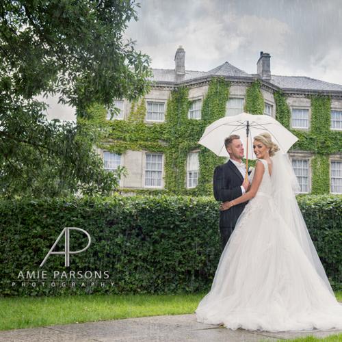 Aston Hall Wedding Photography in the rain