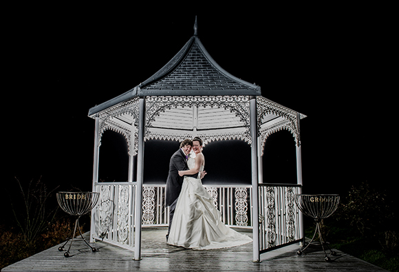 Yorkshire wedding photography evening photos gazebos