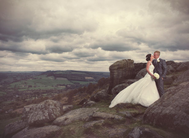 Sheffield wedding photography outdoors bride and groom