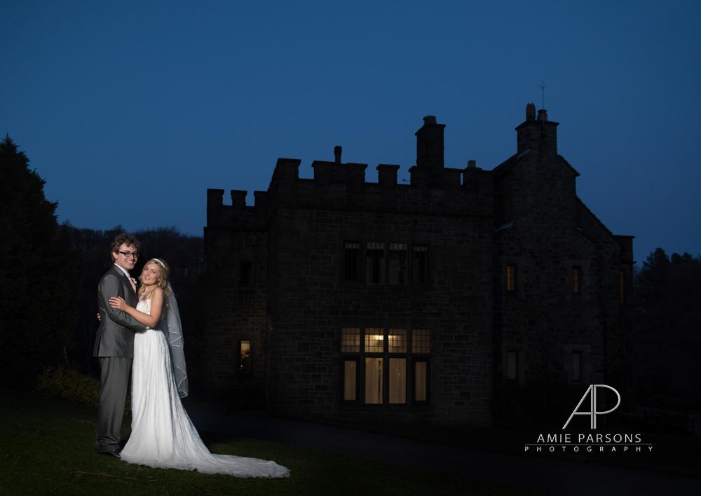 Whirlowbrook Hall night Wedding Photography