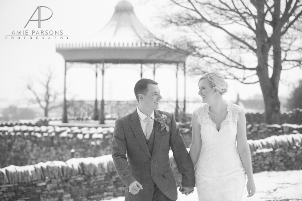 cubley hall sheffield outdoor winter wedding