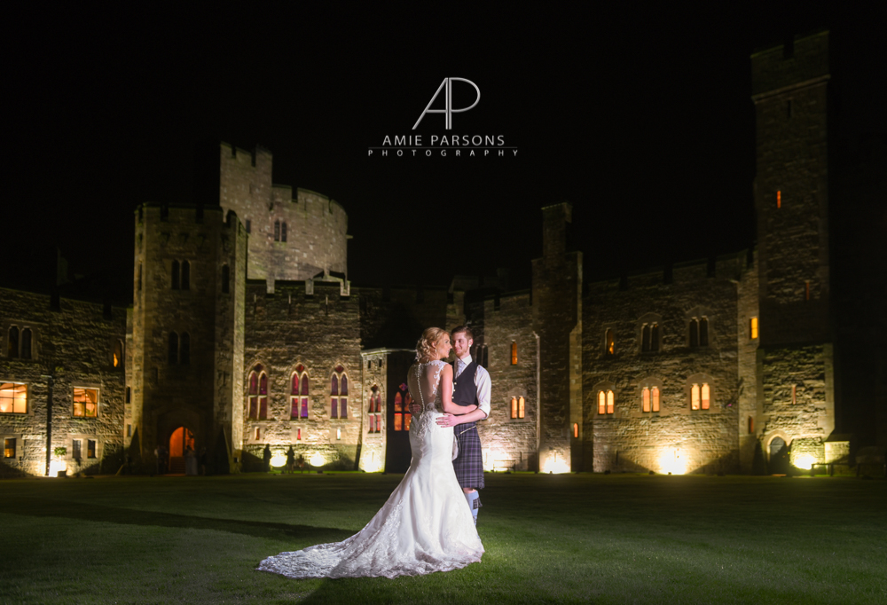 peckforton castle night wedding photography